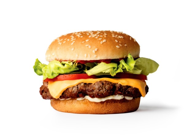 Impossible Burger stock photo