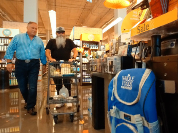 Jim Mills and Lee Ellis of State Fare Kitchen and Bar shop at Whole Foods
