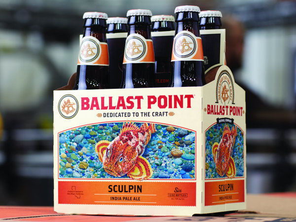 Ballast Point Sculpin IPA beer six-pack