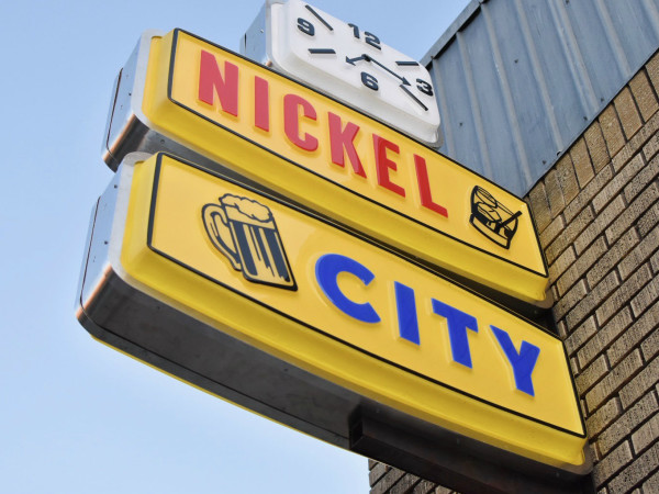 Nickel City bar sign
