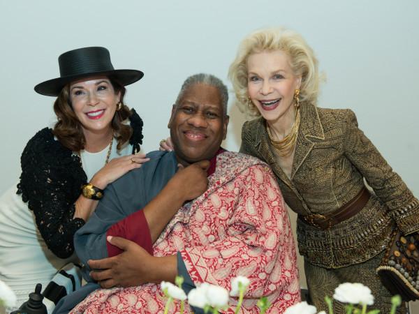 Cherri Flores, Andre Leon Talley, Lynn Wyatt at Oscar de la Renta fashion show at MFAH
