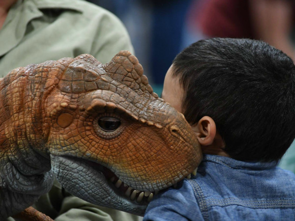 Jurassic Quest animatronic dinosaur