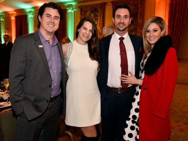 Joey Wilkinson, Megan Bowdon Wilkinson, Drew Herrmann, Pamela Herrman, Dinner with the Stars
