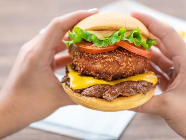 Shake Shack burger stack
