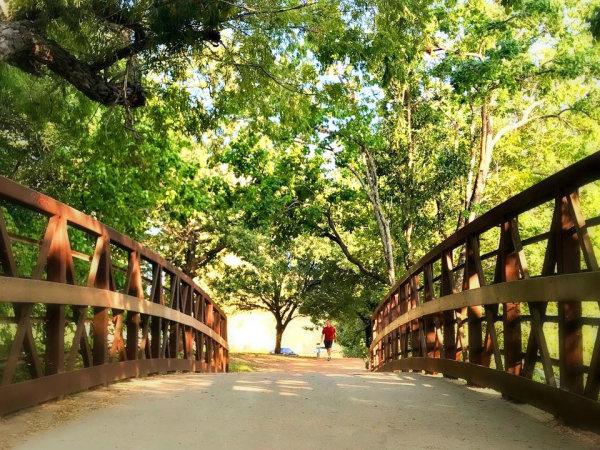 Austin hike and bike trail hiking
