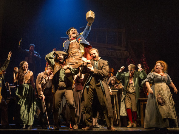 "The company of Les Miserables performs ""Master of the House"" with J Anthony Crane as Thénardier and Allison Guinn as Madame Thénardier"