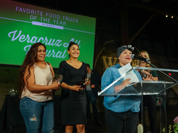 CultureMap Austin 2018 Tastemaker Awards at Fair Market Favorite Food Truck of the Year Veracruz All Natural