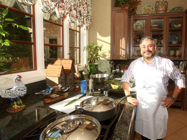 News_Chef Giuliano Hazan_in kitchen