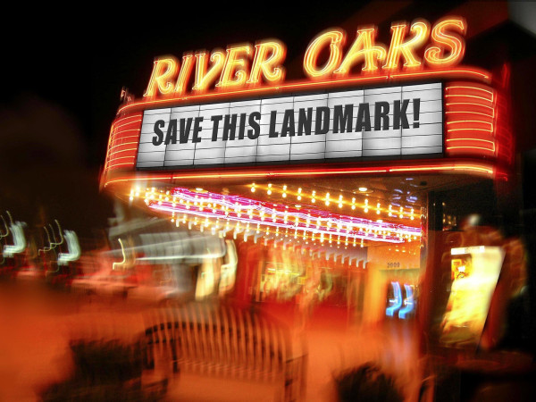 News_River Oaks Theatre_Save This Landmark_marquee_night