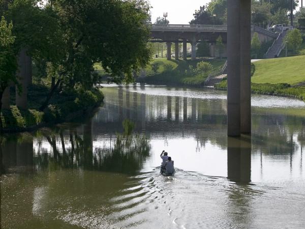 News_Buffalo Bayou_trees_canoe_bayou