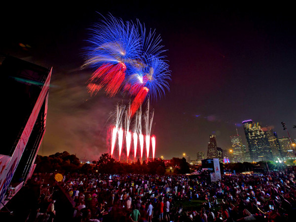 Freedom over Texas fireworks
