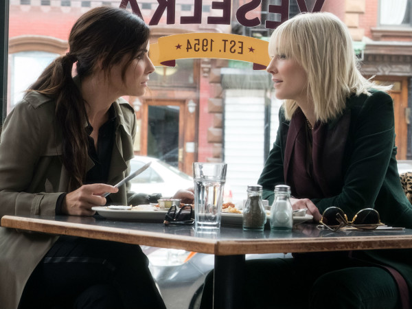 Sandra Bullock and Cate Blanchett in Ocean's 8