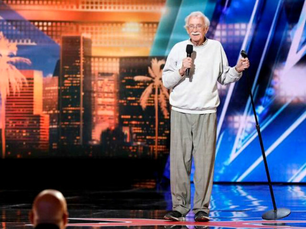 Andy Huggins America's Got Talent stage