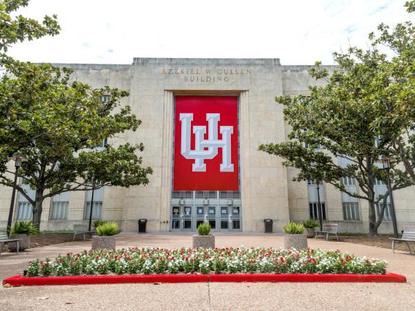 University of Houston central campus exterior Ezekiel Cullen building