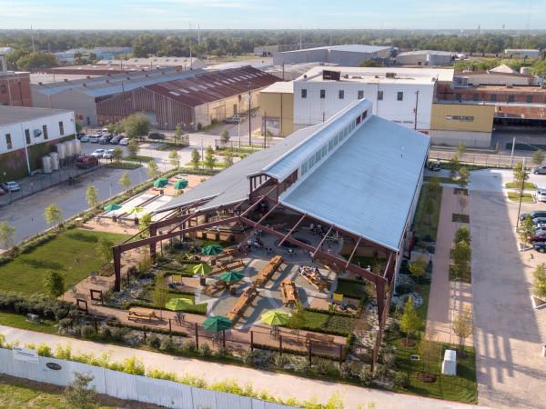 Saint Arnold Beer Garden aerial view