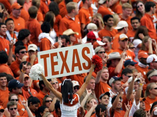University of Texas cheerleader football game