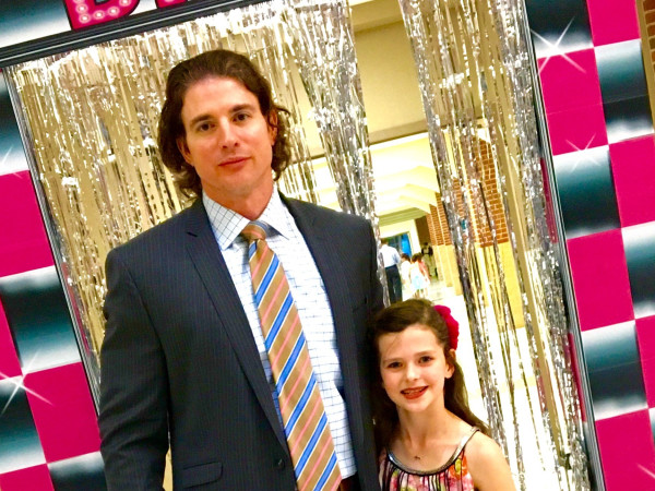 Chris McDowell and daughter at dance