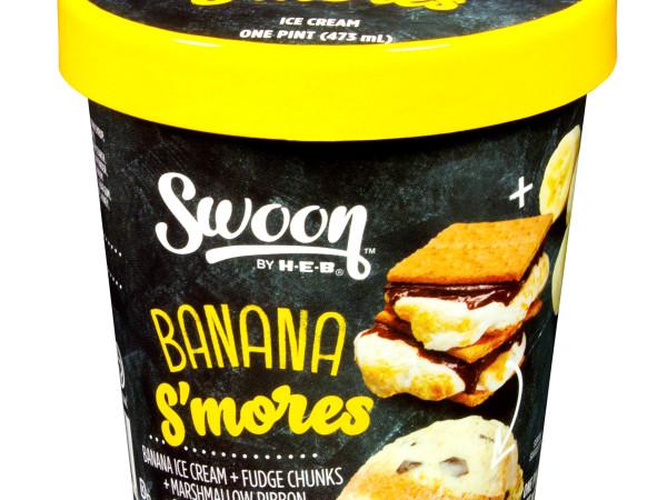 H-E-B Swoon ice cream Banana S'mores