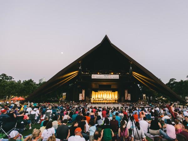 Miller Outdoor Theatre summer outdoor concert