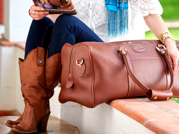 King Ranch Saddle Shop boots bag