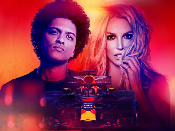 Bruno Mars and Britney Spears at Circuit of the Americas
