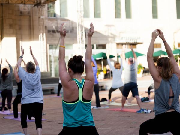 Sundance Square yoga