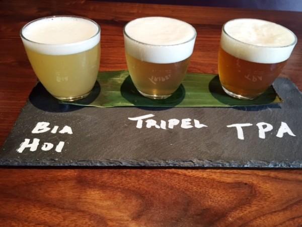 Malai Kitchen beer flight