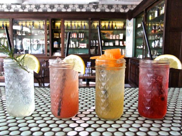 Rosewood, Pickpocket, Root Cola, Hibiscus Lemonade at Hillside Farmacy in Austin
