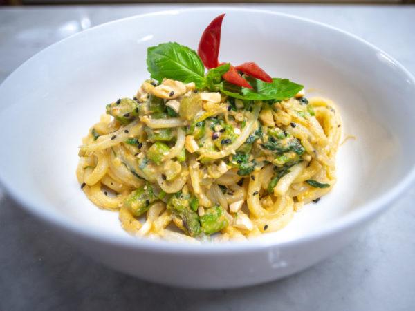 Tanuki cashew noodles Austin