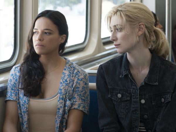 Michelle Rodriguez and Elizabeth Debicki in Widows