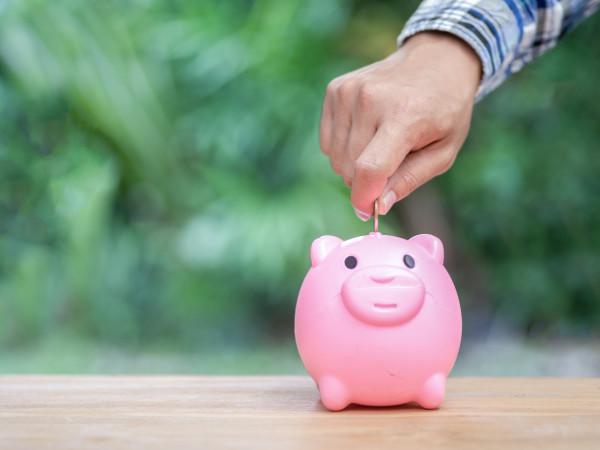 Saving money piggy bank