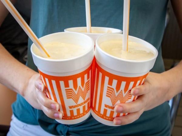 Whataburger cup styrofoam