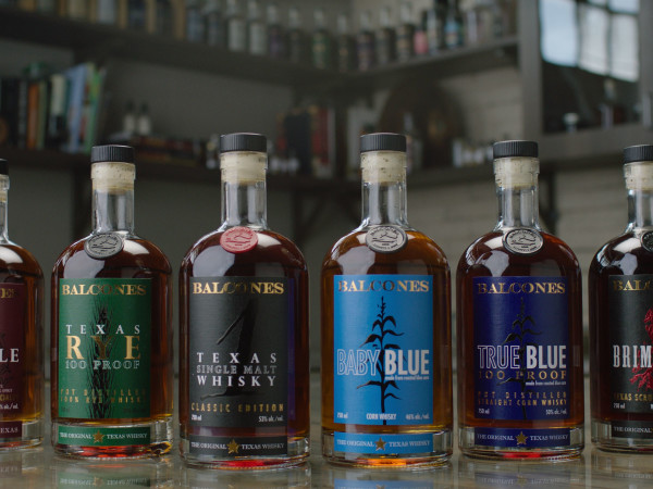 Balcones whiskey bottles