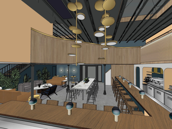 Penny Quarter downstairs rendering