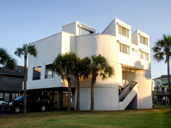 Galveston beach house rental waterfront
