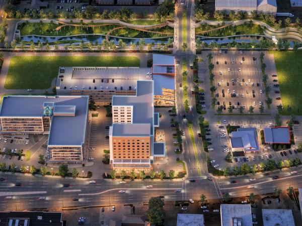 Memorial City Northwest Corner Aerial rendering