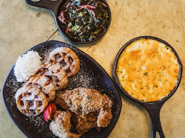 Taste Bar + Kitchen waffle and sides