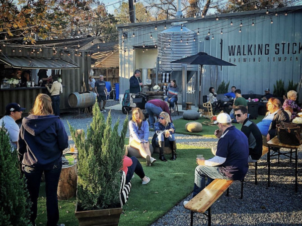 Walking Stick Brewery beer garden