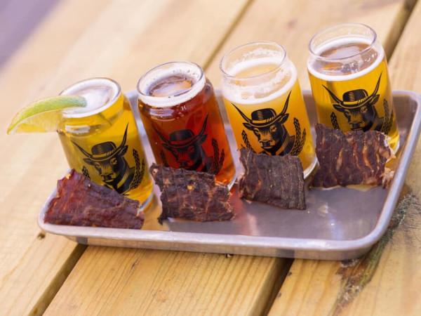 Cowtown Brewing beer beef jerky pairing