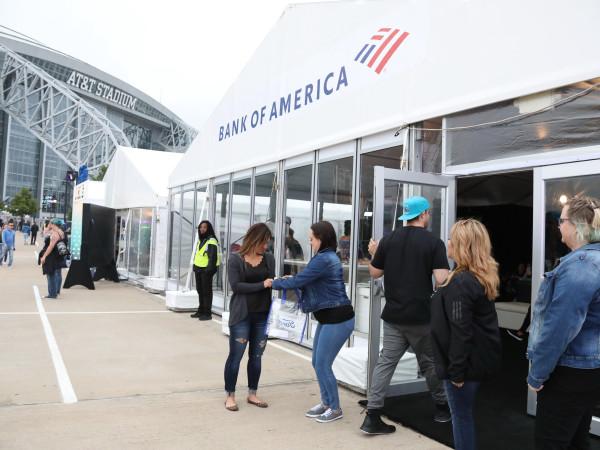 Bank of America lounge at Kaaboo Texas