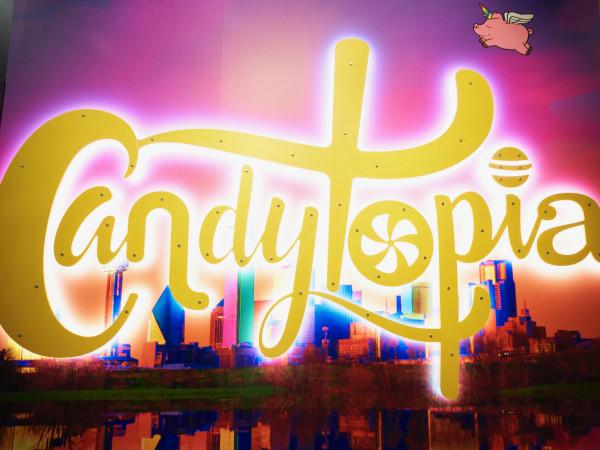 Candytopia Dallas sign