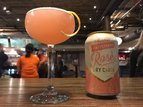 Makin' Me Blush cocktail at Conservatory Houston