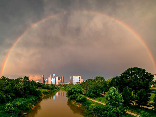 Buffalo Bayou rainbow