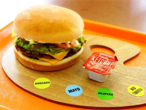 Whataburger burger menu palette