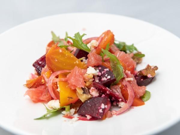 Click Robot Run Beets and Grapefruit salad