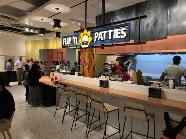Understory food hall Flip n Patties stand
