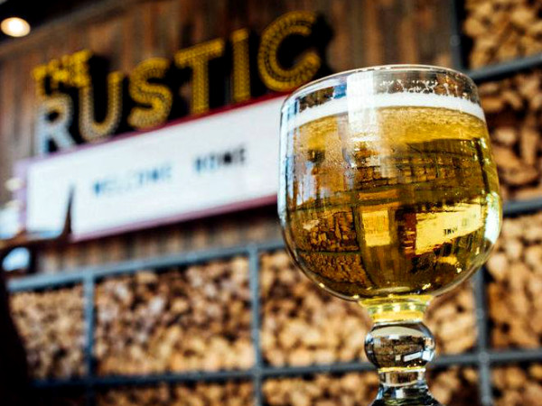 The Rustic beer glass sign