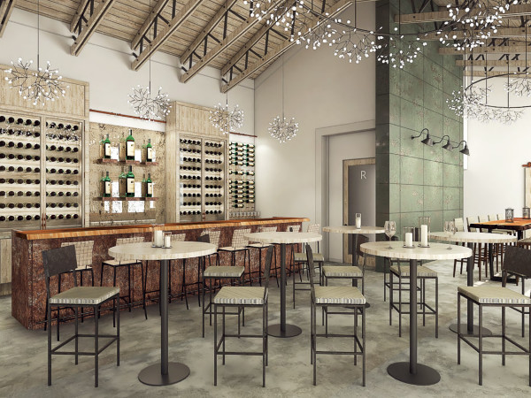 Mutiny Wine Room main bar rendering