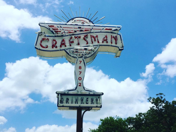 Craftsman Bar Austin sign