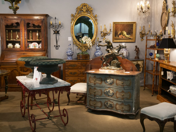 Theta Charity Antiques Show booth Houston